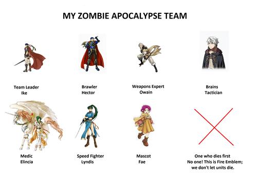 fire emblem,zombie,zombie apocalypse team