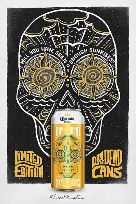 Day Of The Dead corona ads can design