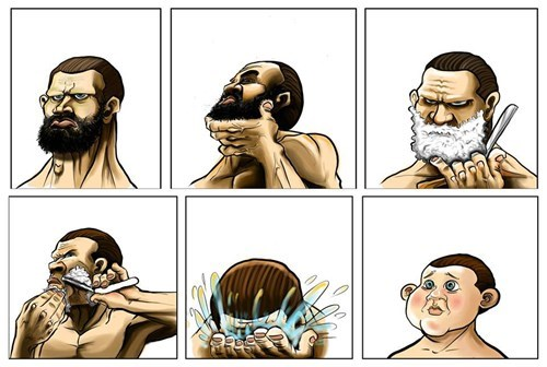 Shaving Clean For The First Time in Weeks