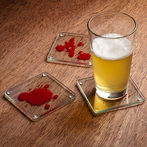 beer coasters funny Dexter bloody
