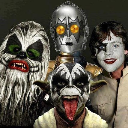 makeup,mashup,star wars,KISS