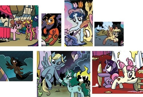 Sailor Scouts in MLP Comics