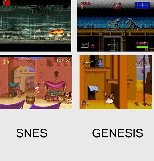 genesis,console wars,snes,aladdin