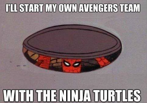ninja turtles Spider-Man avengers - 7877945600