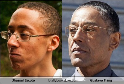 jhassel escoto,glasses,totally looks like,gustavo fring,funny