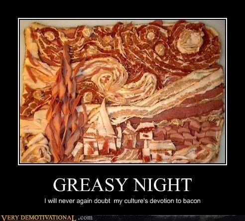 greasy wtf night funny bacon - 7878011648