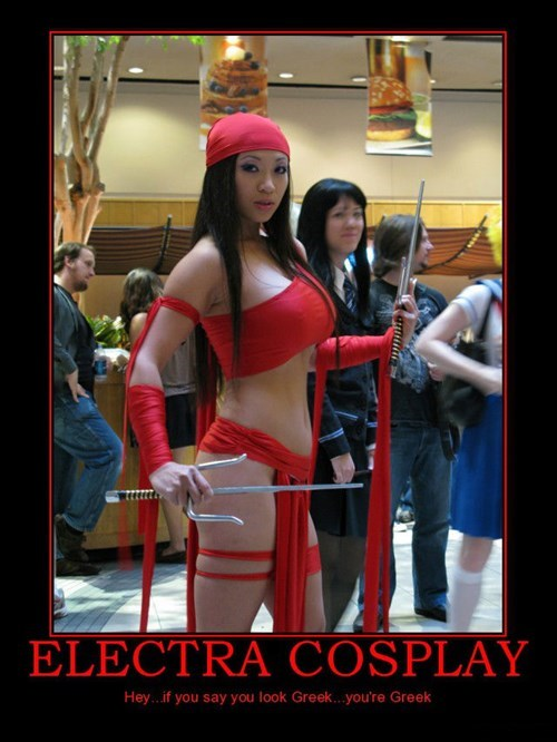 cosplay elektra greek funny