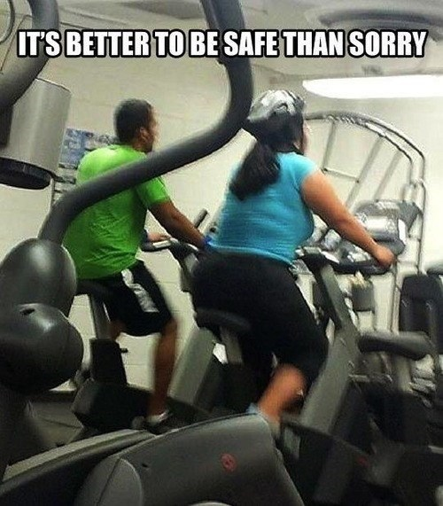 gym,safety first,funny