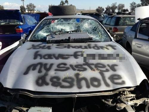 ouch revenge cars funny - 7878136064