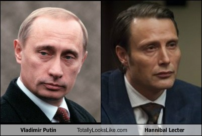 hannibal lecter,totally looks like,funny,Vladimir Putin