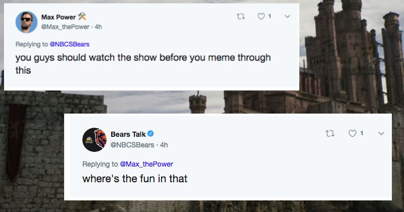 twitter sports Game of Thrones chicago bears funny - 7879173