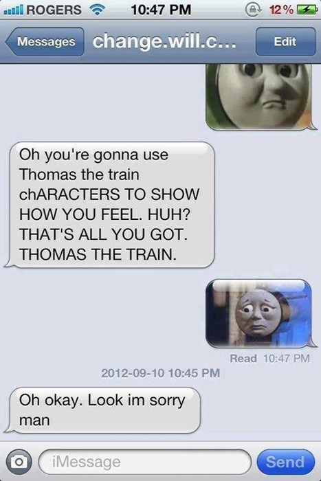 thomas the tank engine,thomas the train,texting