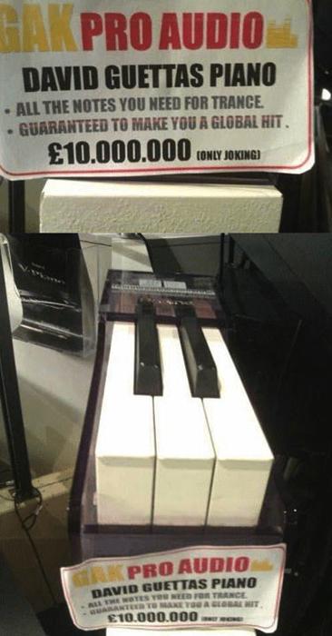 trance david guetta three keys keyboard Music g rated - 7879303680