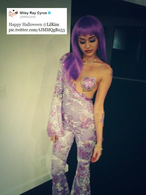 costume,halloween,miley cyrus,lil kim