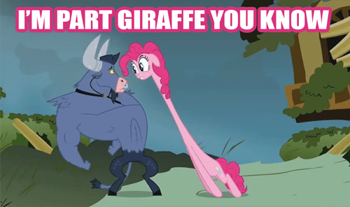 mutant pinkie pie giraffes - 7879380480