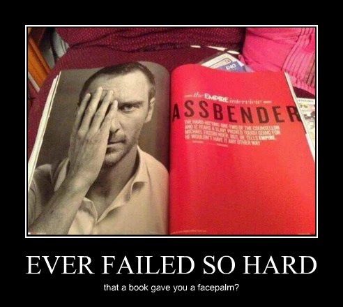 face palm,funny,magazine,michael fassbender