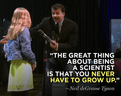 peter pan science quote Neil deGrasse Tyson funny