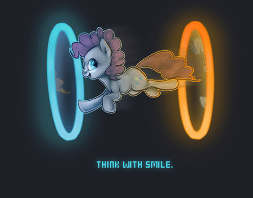Fan Art mashup pinkie pie Portal - 7879398144