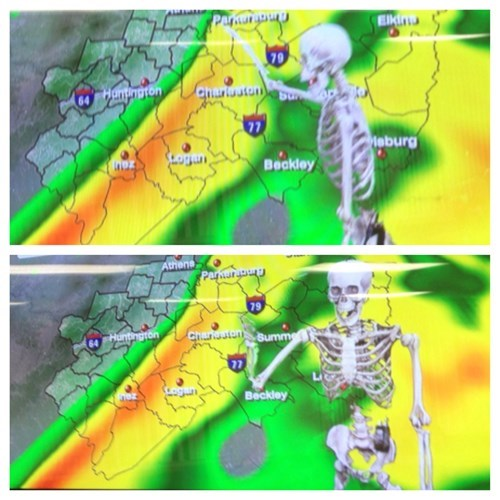 halloween skeletons West Virginia weather report Spooky FAILs and HalloWINs