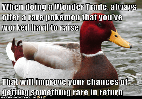 Pokémon wonder trade malicious advice mallard. - 7879460608