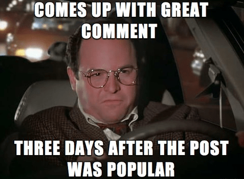 witty responses,comments,george costanza,seinfeld,failbook,g rated