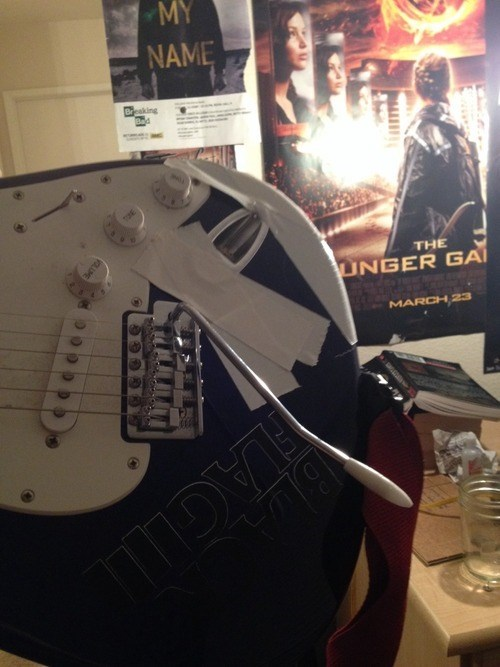 guitars,duct tape,there I fixed it