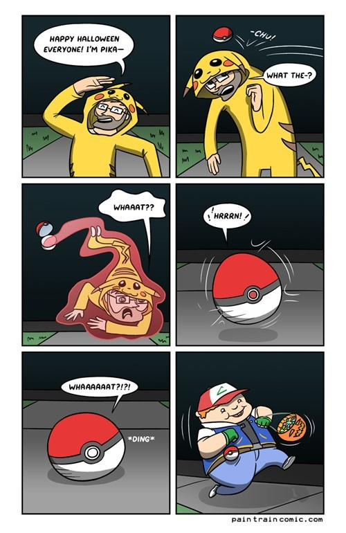 Pokémon,pikachu,web comics,halloween