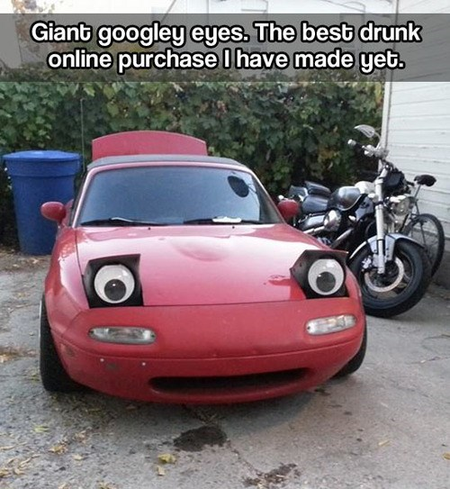 cars,googly eyes,funny