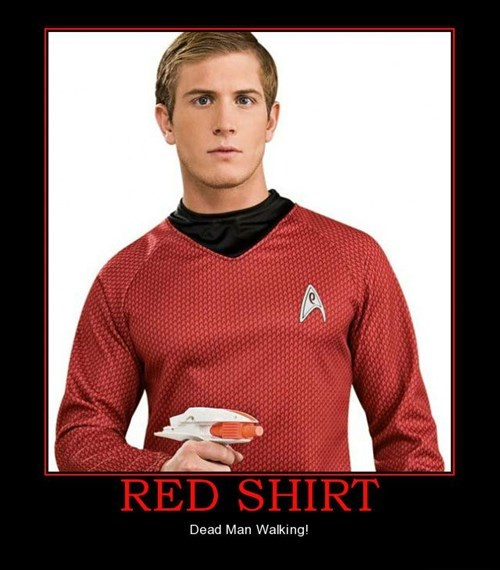 red shirt,dead,Star Trek,funny