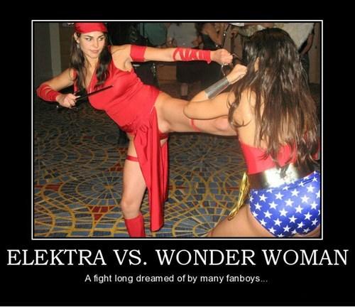 wtf wonder woman elektra fight funny - 7879763200