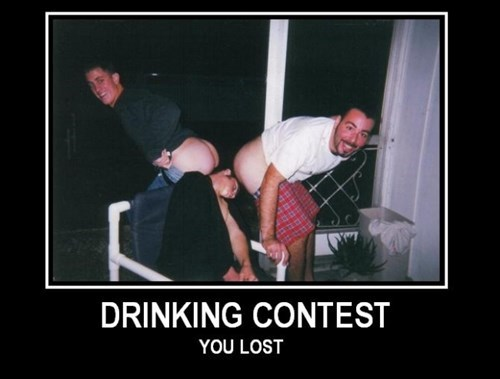 drunk drinking contest passed out funny - 7879839744