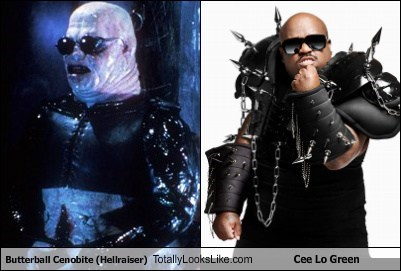 cee-lo green,butterball,cenobite,hellraiser,totally looks like,funny