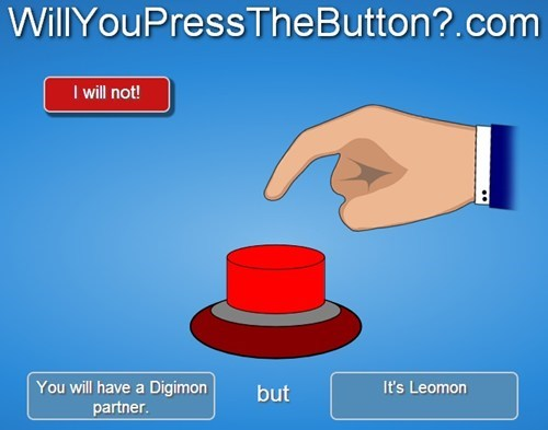 digimon leomon will you press the button - 7880227840
