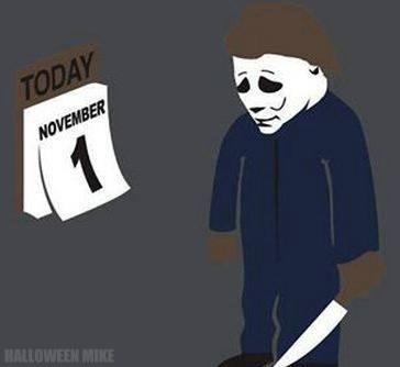 2b797106 November 1 - Sad Michael Myers - Cheezburger - Funny Memes   Funny ...