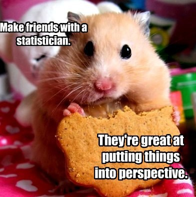 Make friends with a statistician. They're great at putting things into perspective.