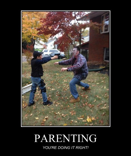 kids funny parents zombie