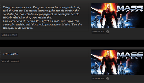 mass effect gamers reviews comments