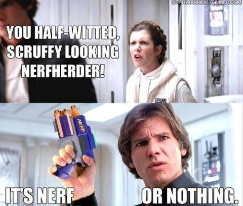 star wars Nerf nerf herder Han Solo Princess Leia - 7881010176
