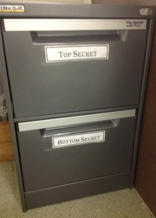 office supplies puns file cabinet