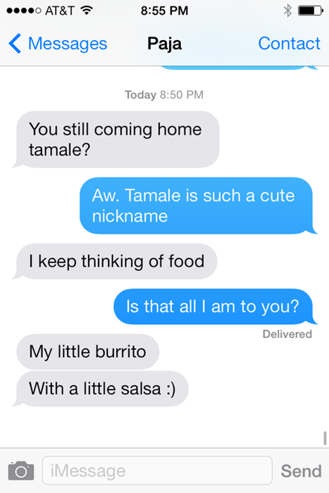 autocorrect text food nicknames