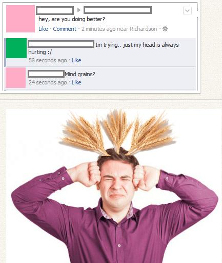 headache puns facebook migraine - 7881218304