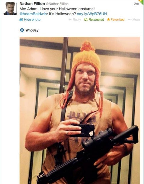 nathan fillion,jayne cobb,Firefly,celebrity twitter,adam baldwin
