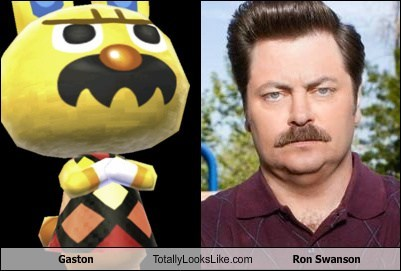 Gaston,ron swanson,totally looks like,animal crossing,funny