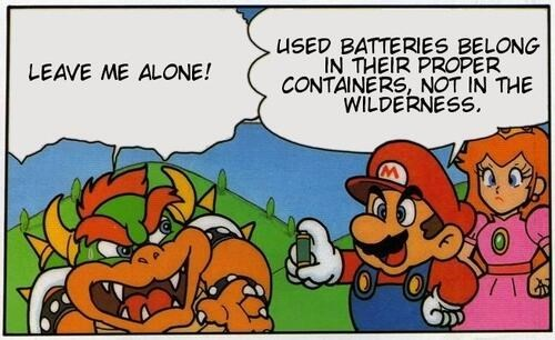 bowser batteries nintendo - 7881327360