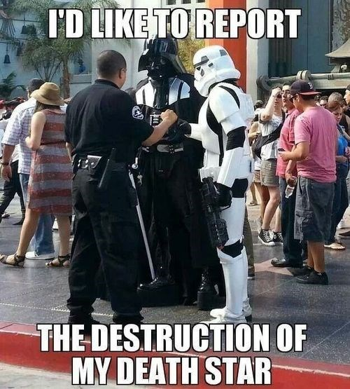star wars police report Death Star