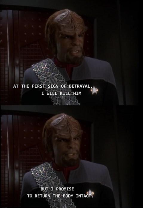 Worf Star Trek ds9 - 7881365504