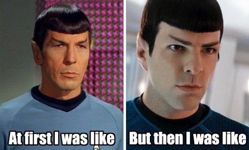 Spock Zachary Quinto Leonard Nimoy Star Trek - 7881398784