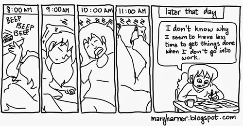days off sleeping in funny web comics