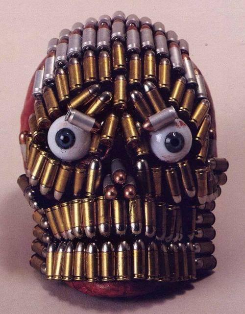 wtf skulls bullets funny - 7881415680