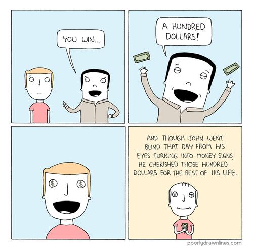sad but true funny money web comics - 7881477120